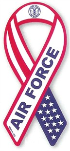 Air Force Military Ribbon Car Magnet