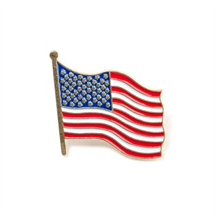 United States of America Wavy Flag Lapel Pin