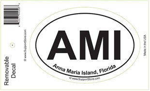 AMI Anna Maria Island Florida Oval Removable Decal