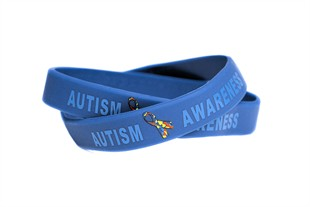 """Autism Awareness"" Rubber Bracelet Wristband - Youth 7"""