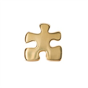 Autism Awareness Gold Puzzle Piece Lapel Pin
