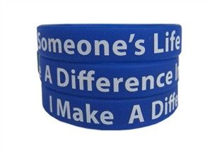 """I Make A Difference In Someone's Life"" Rubber Bracelet"