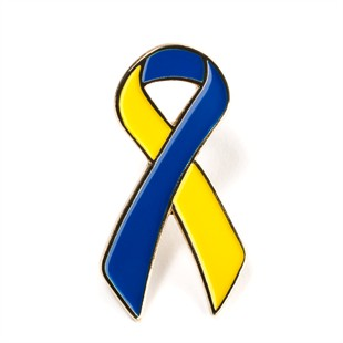 Blue & Yellow Ribbon Lapel Pin