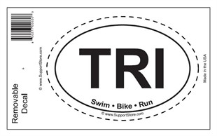 TRI Swim Bike Run Oval Removable Decal