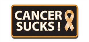 Cancer Sucks! Lapel Pin - Orange