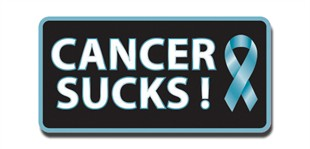 Cancer Sucks! Lapel Pin - Teal