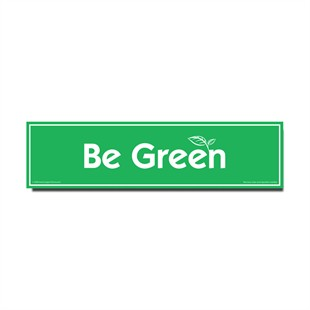 �Be Green� Car Magnet