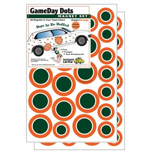 Game Day Dot Magnets - Green, Orange, White