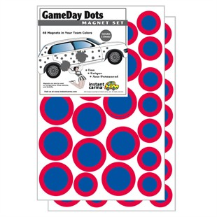 Game Day Dot Magnets - Red & Blue