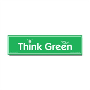 �Think Green� Recycled Car Magnet
