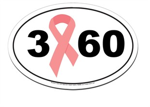 3 60 Breast Cancer 3-Day Walk Car Magnet