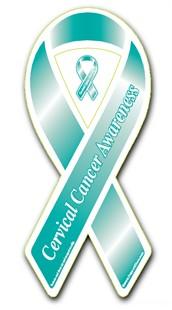 """Cervical Cancer Awareness Ribbon Magnet - 3.5"""" x 8"""""""