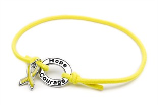 Yellow Awareness Stretch Charm Bracelet