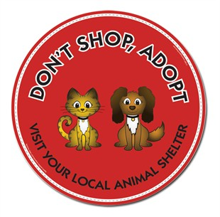 """Don't Shop Adopt"" Car Magnet"