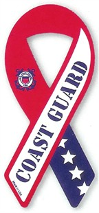 Coast Guard Military Ribbon Car Magnet