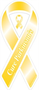 Cure Parkinson's Yellow Ribbon Magnet - Set of 125