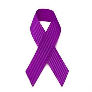 Peel & stick purple grosgrain awareness ribbons - 10 pack