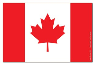 "Canada Canadian Flag Magnet - 4"" x 6"""