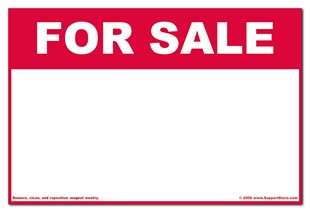 Magnetic �For Sale� Car Magnet Sign