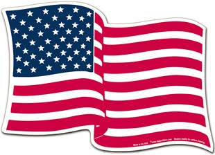 "American Flag Magnet - 5"" x 7"" Wavy"