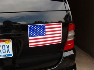 "American Flag Car Magnet - 7"" x 12"""