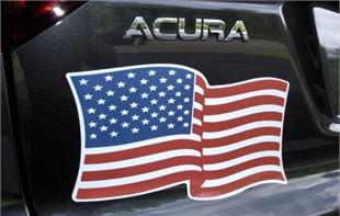 "American Flag Magnet - 7"" X 12"" Wavy"
