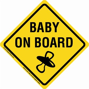 """Baby On Board"" Sign Car Magnet"