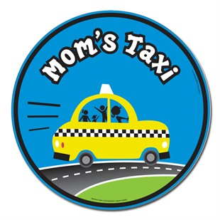 Mom's Taxi Car Magnet