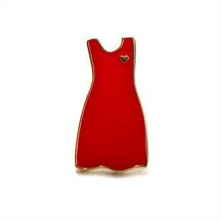 Red Dress Lapel Pin