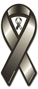 Black Cause Awareness  Ribbon Magnet