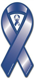 Dark Blue Cause Awareness  Ribbon Magnet