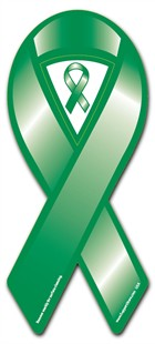 Green Cause Awareness  Ribbon Magnet