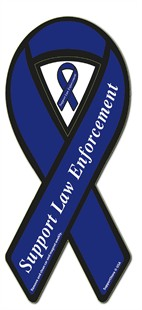Support Law Enforcement Blue Ribbon Magnet