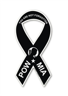 """POW - MIA"" Ribbon Mini Magnet"