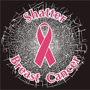 """Shatter Breast Cancer"" Static Window Cling"