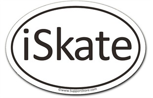 iSkate Enthusiasts Magnet - Oval