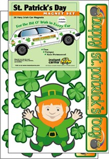 St. Patrick's Day Car Magnet Set