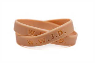 Christian Bracelet,  What Would Jesus Do Wristband - Adult 8""