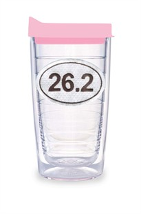 26.2 Tervis Tumbler 16 oz with Pink Travel Lid