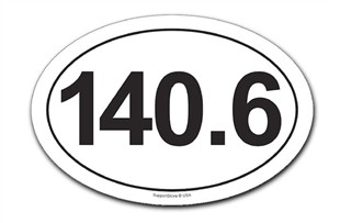 140.6 Car Magnet - Oval