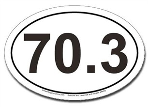 70.3 Car Magnet - Oval