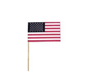 "USA Small Stick Flags for Parades 4"" by 6"" 24-pack"