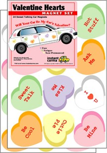 Valentine's Day Car Magnet Set