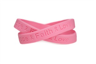 Breast awareness wrist bands